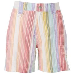 Fresh Womens Striped Shorts