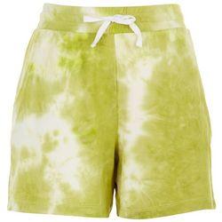 Sportelle Womens Tie-Dye Drawstring Bermuda Shorts