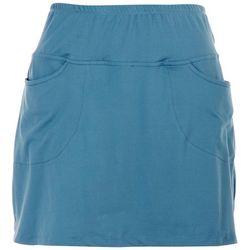 Sportelle Womens Elastic Waistline Pocketed Skort