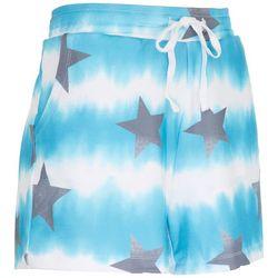 Sportelle Womens Star Tie Dye Knit Shorts