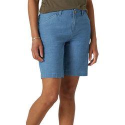 Lee Womens Solid Regular Fit Chino Bermuda Shorts
