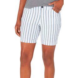 Lee Womens Striped Rgular Fit Bermuda Shorts