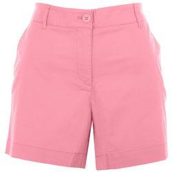 Nautica Womens Solid Colored Denim Shorts