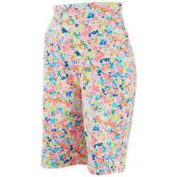Teez-Her Womens Multi Color Bermuda Shorts