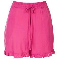 Ready To Go Womens Ruffle Soft Shorts