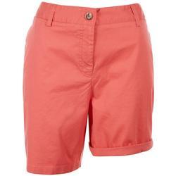 Sugar Magnolia Womens Basic Solid Shorts