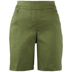 Coral Bay Womens Basic Solid Pocketed Shorts
