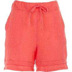 Silverwear Womens Solid Pocketed Cotton Shorts