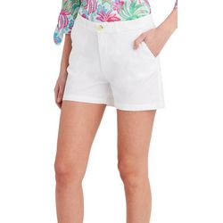 Stella Parker Womens Solid High Waisted Shorts