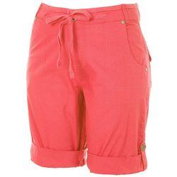 Caribbean Joe Womens Mid Rise Chino Shorts