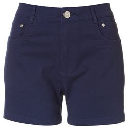 Caribbean Joe Womens Solid Cotton Shorts