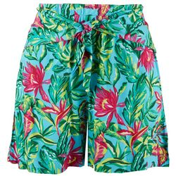 Stella Parker Womens Summertime Tie-Front Shorts