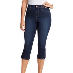 Womens Modern High Rise Capri Jeans