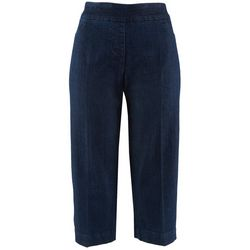 Erin London Womens Dark Wash Stretchy Crop Pants