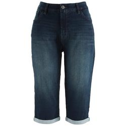 Angels Jeans Womens 17'' Rolled Cuff Capris