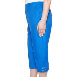 Alfred Dunner Womens Classic Solid Capris