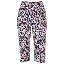Coral Bay Womens Favorite Fit Wild Flowers Capris
