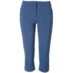 ATTYRE Womens Solid Cropped Capris