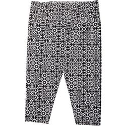 Khakis & Co Womens Suave Kaleidoscope Capri Leggings