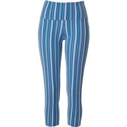 Khakis & Co Womens Dotted Stripe Capri Leggings