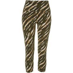 Khakis & Co Womens Stripe Print Capri Leggings