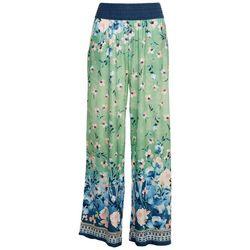 OneWorld Womens Print Soft Scarf Pants