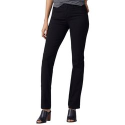 Lee Womens Solid Straight Leg Fit Jeans