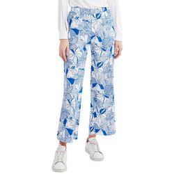 Stella Parker Womens Floral Wide Leg Pants