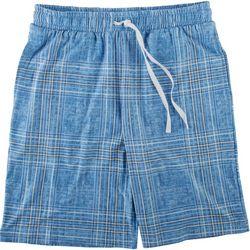 Ande Mens Plaid Drawstring Pajama Shorts