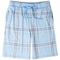 Ande Mens Lush Luxe Large Blue Plaid Print Pajama Shorts
