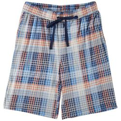 Ande Mens Lush Luxe Dulce Plaid Print Pajama Shorts