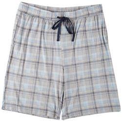 Ande Mens Lush Luxe Lakes Plaid Print Pajama Shorts