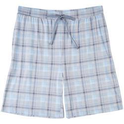 Mens Plaid Pajama Shorts