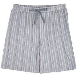 Mens Stripe Pajama Shorts