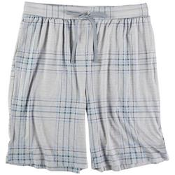 Mens Plaid About Pajama Shorts