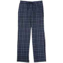 Ande Mens Navy Plaid Print Pajama Pants