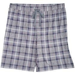 Ande Mens Grey Plaid Pajama Shorts