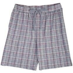 Ande Mens Grey Grid Plaid Pajama Shorts
