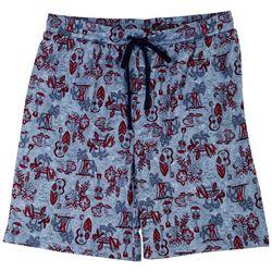 Ande Mens Beach Day Print Pajama Shorts