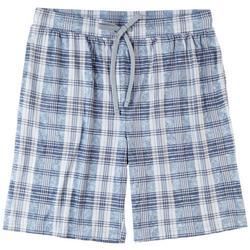 Mens Yes You Do Plaid Pajama Shorts