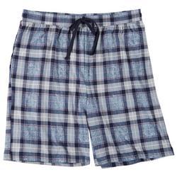 Mens Tabitha Plaid Pajama Shorts
