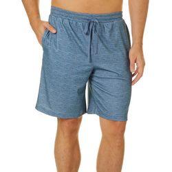 Mens Textured Stripe Pajama Shorts