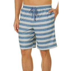 Ande Mens Textured Striped Pajama Shorts