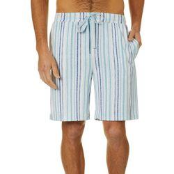 Ande Mens Stripe Print Pajama Shorts