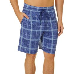 Ande Mens Plaid Print Pajama Shorts