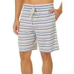 Ande Mens Striped Print Pajama Shorts