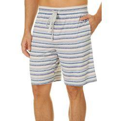 Mens Striped Print Pajama Shorts