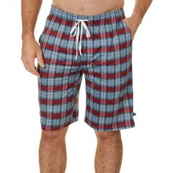 Tackle & Tides Mens Plaid Print Pajama Shorts