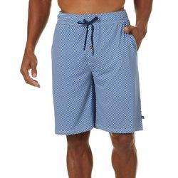 Mens Checkered Pajama Shorts