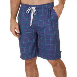 Tackle & Tides Mens Checkered Print Pajama Shorts